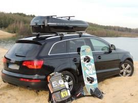 Audi Foto's van dakkoffers Big-Malibu XL Surf met surfplankhouder
