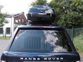 Range Rover Big Malibu Foto's van dakkoffers Big-Malibu XL Surf met surfplankhouder