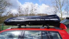 Kundenbilder  DSC Foto's van dakkoffers Big-Malibu XL Surf met surfplankhouder