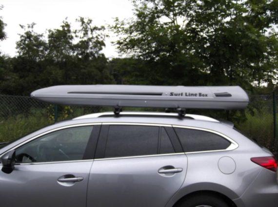 Dachbox von Mobila auf    Mazda 6 SURF LINE BOX 620  - © surfbox.de