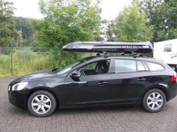 Dachbox von Mobila auf    volvo malibu  - © surfbox.de