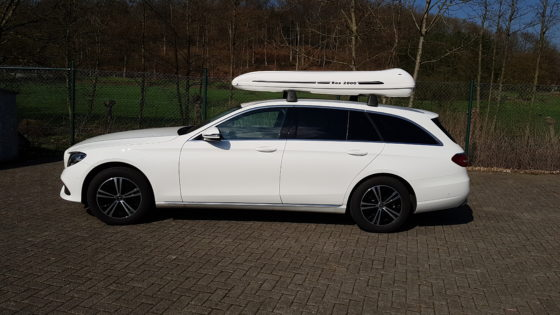 Mercedes E-Klasse Kundenbilder Dachbox ALB 800