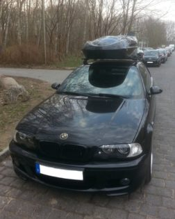 BMW 3er Coupe Kundenbilder Beluga Golf Dachbox – Vorsprung durch Qualitaet