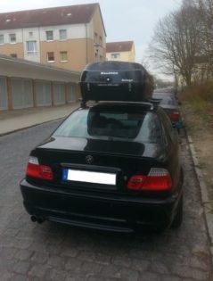 """BMW 3er Coupe Kundenbilder Beluga """"Golf und Kite"""" Dachbox """"NEU"""" Vorsprung durch Qualität"""