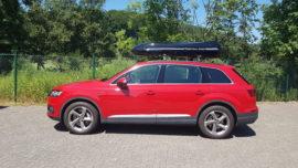 Audi Q7 Dachboxen Audi Beluga XXL Dachbox – Urlaub mit Hund