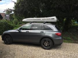 Mercedes GLC Dachboxen Mercedes Benz Malibu Dachbox mit Surfboardhalter auf dem Deckel