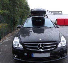 Mercedes R-Klasse Dachboxen Mercedes Benz Big-Malibu XL SURF inkl. Surfbretthalter