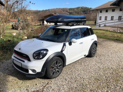 Mini Mini  Kundenbilder Jumbo – große Premium Dachbox mit 1300L Volumen