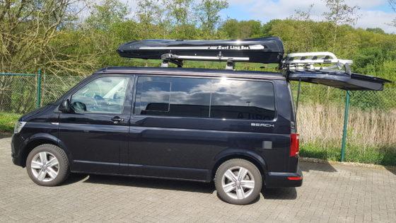 VW T6 Kundenbilder Jumbo XL  – größte Dachbox nur von Mobila mit 1500L Volumen